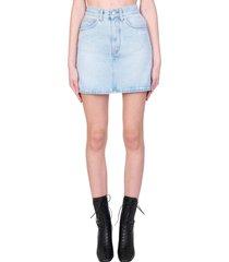 off-white mini skirt skirt in blue denim