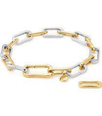 gold alta capture mixed metal charm bracelet