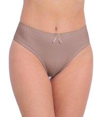 calcinha vip lingerie tangão algodão cintura alta bege