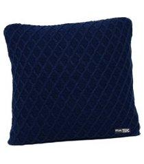 capa de almofada tricot 50x50 c/zíper sofa cod 354.7 azul marinho
