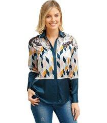 blouse amy vermont marine::multicolor