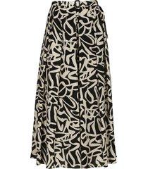 aspesi printed skirt