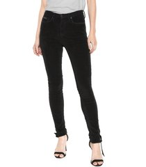 calça calvin klein jeans skinny cotelê preta