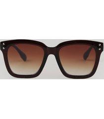 óculos de sol quadrado feminino yessica marrom