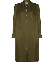 asceno oxford shirt dress - green