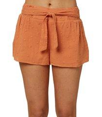 women's o'neill darla dot woven shorts, size medium - orange
