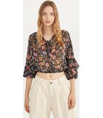 blouse met volantmouw