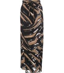 lisa marie fernandez two tone midi beach skirt - black