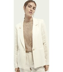 scotch & soda draped linen-blend blazer
