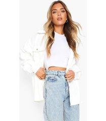oversized blouse met corduroy zakken