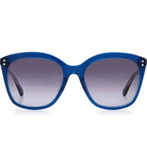 kate spade new york pella 55mm gradient cat eye sunglasses in blue/grey shaded at nordstrom