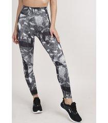 calça legging feminina esportiva ace estampada proteção uv50+ off white