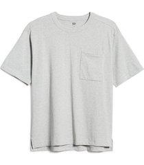 bp. unisex cotton pocket t-shirt, size x-small - grey