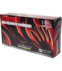 adenna night angel 4 mil nitrile powder free exam gloves (black, x-small)