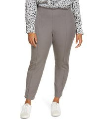 lafayette 148 new york gramercy acclaimed stretch pants, size 16w in rock at nordstrom