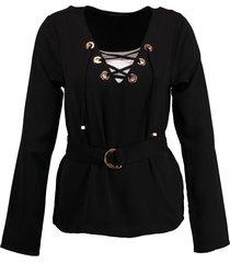 supertrash zwarte tuniek blouse