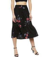 falda vero moda larga negro - calce holgado
