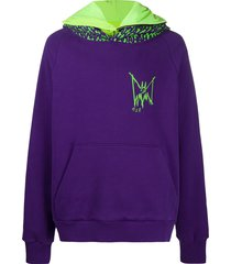 mjb marc jacques burton scary print hoodie - purple