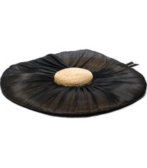 eliurpi wide-brim sun hat - black