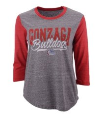 blue 84 women's gonzaga bulldogs baseball t-shirt