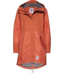 mølster l jacket parka lange jas jas oranje kari traa
