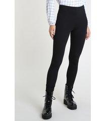 calça legging feminina básica preta