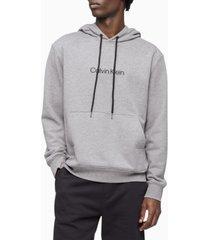 calvin klein men's logo terry hoodie