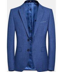 business casual easy care blazer blu tinta unita per uomo