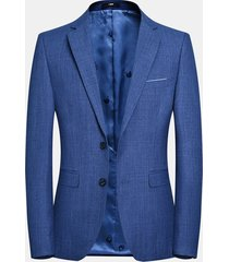 business casual easy care blazer blu tinta unita per uomo