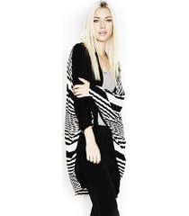 easton zig zag cardigan - one white black
