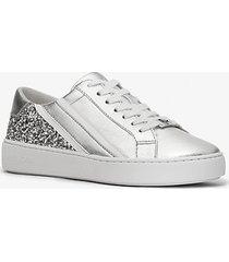 mk sneaker slade con glitter e righe effetto metallizzato - argento (argento) - michael kors