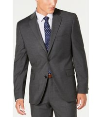 alfani red men's slim-fit performance stretch gray mini check suit separate jacket, created for macy's