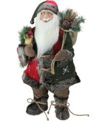 northlight standing santa claus christmas figurine with snowflake jacket