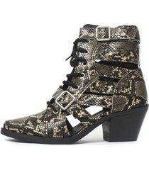 bota gladiadora damannu shoes jennie feminina