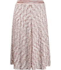 missoni woven detail mid-length skirt - white