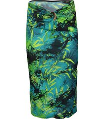 versace green pencil skirt