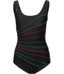 action lines, swimsuit baddräkt badkläder svart abecita