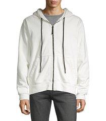 zip-front hoodie