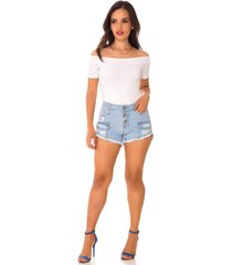 shorts jeans express hot pants olívia azul