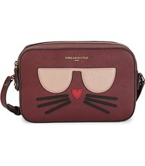 cat-patch faux-leather crossbody bag