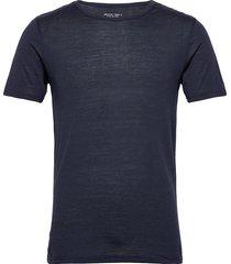gta curve wool tee crew t-shirts short-sleeved blå greater than a