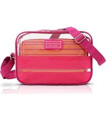 bolsa transversal com 2 peças jacki design felicita pink - tricae
