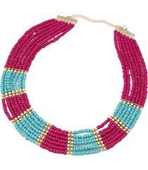 collar artesanal morado cl-10488