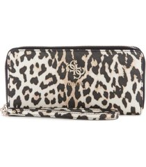 guess lani large zip around wallet wristlet