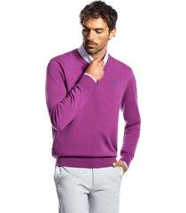 sweater business melange morado ferouch