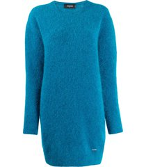 dsquared2 slouchy sweater dress - blue