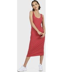 vestido hering largo rosa - calce ajustado