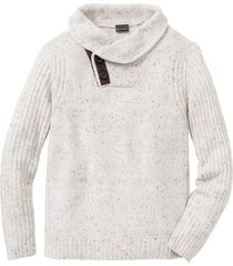 pullover con collo a scialle regular fit (beige) - rainbow