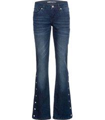 jeans a zampa con bottoni a pressione (blu) - rainbow