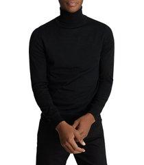 men's reiss caine slim fit turtleneck wool sweater, size xx-large